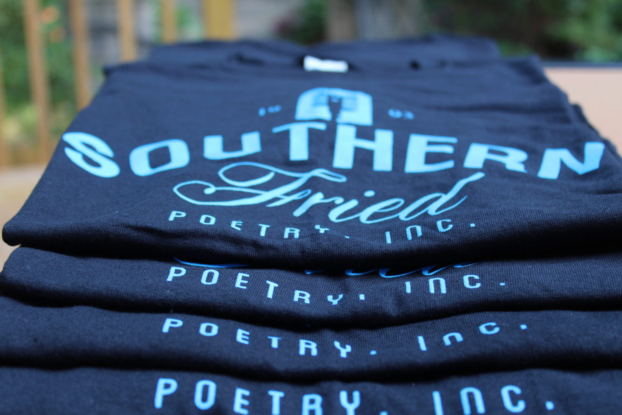 Southern Fried Poetry Original TShirt – Carolina Blue